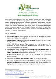 North East Councils' FLights - The TaxPayers' Alliance
