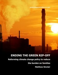 Ending the Green Rip-Off: Reforming climate change policy