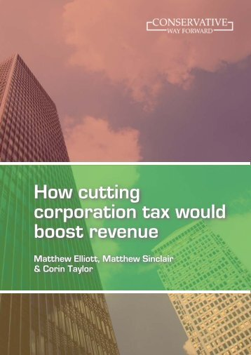 How cutting corporation tax would boost revenue - The TaxPayers ...