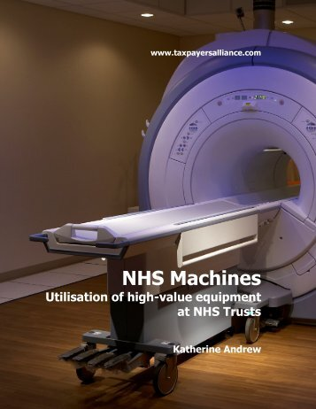 NHS Machines - The TaxPayers' Alliance