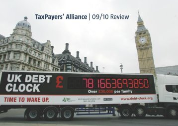 TaxPayers' Alliance | 09/10 Review - The TaxPayers' Alliance