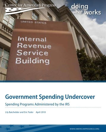 Government Spending Undercover - Tax Policy Center