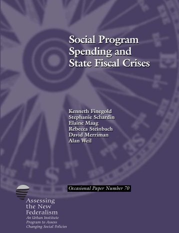 Social Program Spending and State Fiscal Crises - Urban Institute
