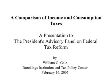 A Comparison of Income and Consumption Taxes - Tax Policy Center