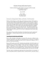 Extension of Saving and Investment Incentives ... - Tax Policy Center