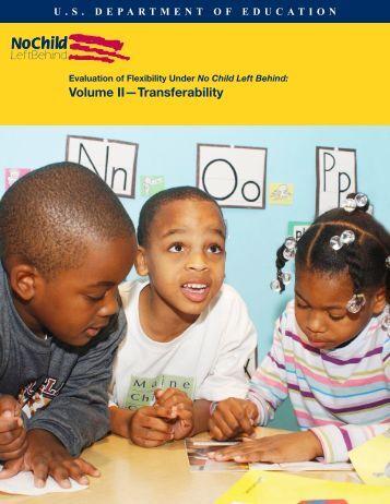 Evaluation of Flexibility Under No Child Left Behind - Eric - U.S. ...