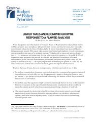 lower taxes and economic growth: response to a ... - Urban Institute