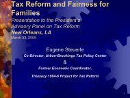 Tax Reform and Fairness for Families - Tax Policy Center