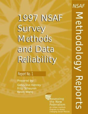 Survey Methods and Data Reliability - Urban Institute