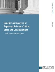 Benefit-Cost Analysis of Supermax Prisons: Critical ... - Urban Institute