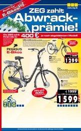Die ZEG zahlt Ihnen bis zu 250 - Fahrrad Petersen