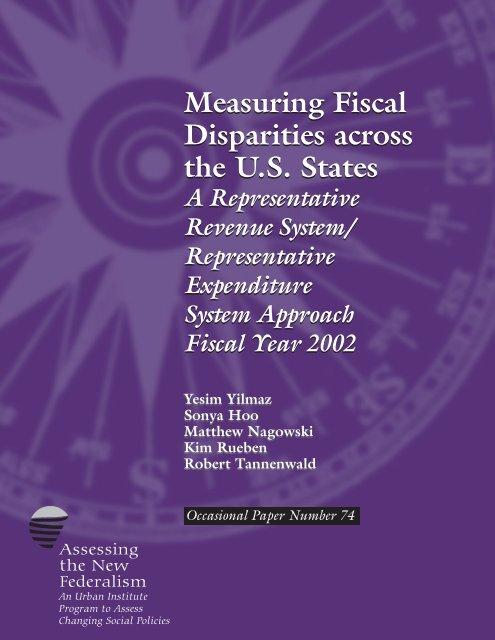 Measuring Fiscal Disparities across the U.S. States ... - Urban Institute