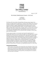 The President's Health Insurance Proposal—A ... - Tax Policy Center