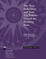 The New Federalism and State Tax Policies toward ... - Urban Institute