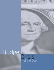 Budget Crisis at the Door - Urban Institute