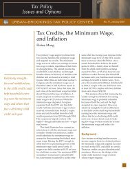 Tax Credits, The Minimum Wage, And In? - Urban Institute
