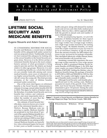 Lifetime Social Security and Medicare Benefits - Urban Institute