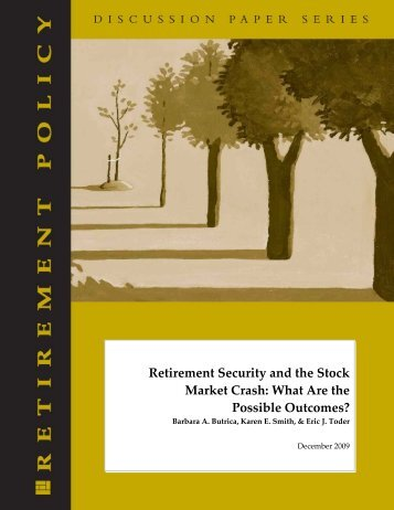 Retirement Security and the Stock Market Crash ... - Urban Institute