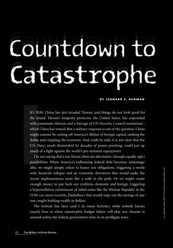 Countdown to Catastrophe - Milken Institute