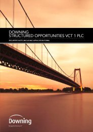 downing structured opportunities vct 1 plc - The Tax Shelter Report