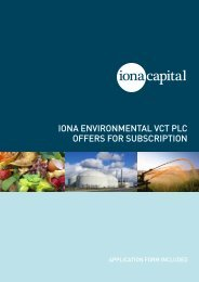 iona environmental vct plc offers for subscription - The Tax Shelter ...