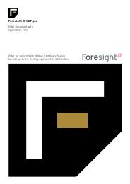 Foresight 3 VCT plc - The Tax Shelter Report