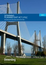 Downing Planned Exit VCT 2 - G Shares - The Tax Shelter Report