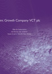 Arc Growth Company VCT plc - The Tax Shelter Report