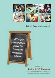 55214 British Country Inns 4 Prospectus Text - The Tax Shelter Report