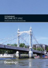 DOWNING INCOME VCT 3 PLC - The Tax Shelter Report