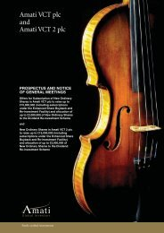 Amati VCT - The Tax Shelter Report