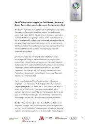 Golf-Champions-League im Golf Resort Achental