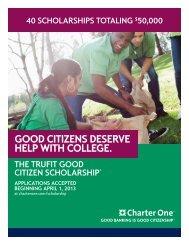 TruFit Good Citizen Scholarship flyer - School of Education