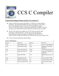 QUICK START with CCS C Compiler QUICK START with CCS C