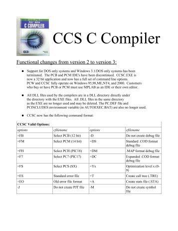 Pic C Compiler Ccs