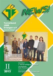 TB-News II/13(PDF,3495KB) - Turnerbund 1888 Erlangen eV