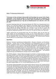 Wiler Trinkwasserverbrauch - Technische Betriebe Wil