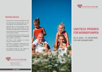 UMSTIEGS-PRÄMIEN füR WÄRMEPUMPEN - Technische Betriebe ...