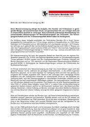 Betrieb der Wasserversorgung Wil - Technische Betriebe Wil