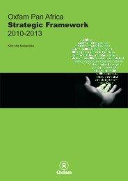 Oxfam Pan Africa 2010-2013