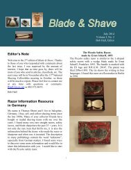 BLADE and SHAVE July 2014 by Bob Hall