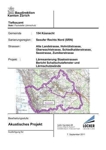 Akustisches Projekt - Tiefbauamt - Kanton Zürich