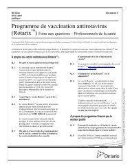 Programme de vaccination antirotavirus (Rotarix