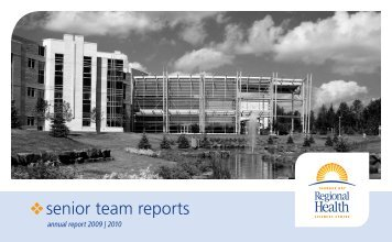 senior team reports - Thunder Bay Regional Health Sciences Centre