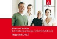 Programm 2012 - IG Metall Bildung und Beratung Lohr