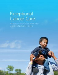 Cancer Plan 2015 - Thunder Bay Regional Health Sciences Centre