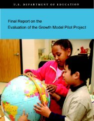 Final Report on the Evaluation of  the Growth Model Pilot Project (MS ...