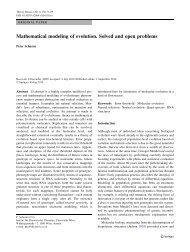 Mathematical modeling of evolution. Solved and open problems