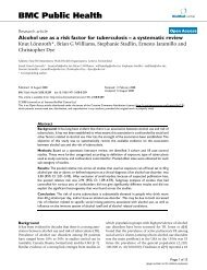 Alcohol use as a risk factor for tuberculosis–a systematic review