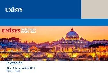 Unisys Tech Forum 2014 -Invitación